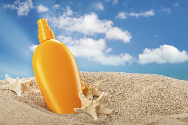 Summer sunbath - suntan oil