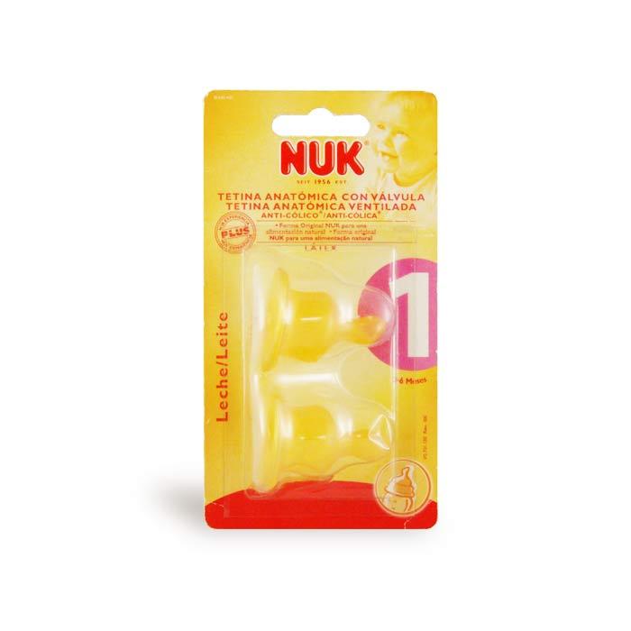 Tetina Nuk T1 Leche L/átex 2 Unidades Tetina Latex Beb/és de 0 a 6 Meses