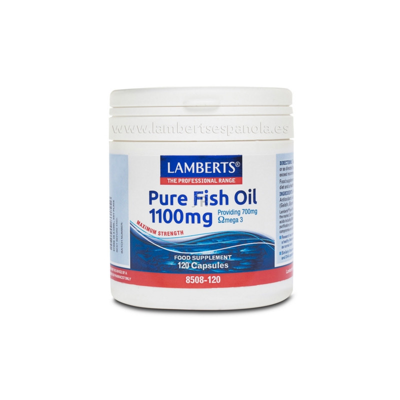 Aceite Pescado Puro 1100Mg 120 Capsulas Lamberts