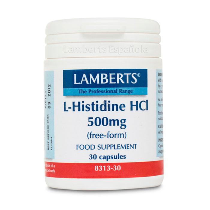 Lamberts L-Histidina Hcl 500Mg 30 Capsulas