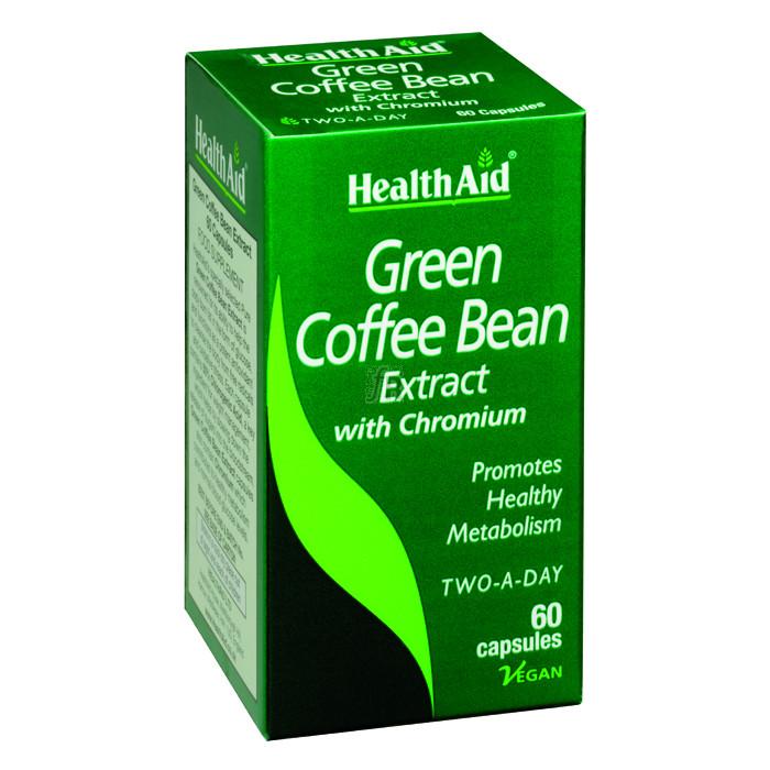 Café Verde con Cromo 60 Cápsulas - Health Aid