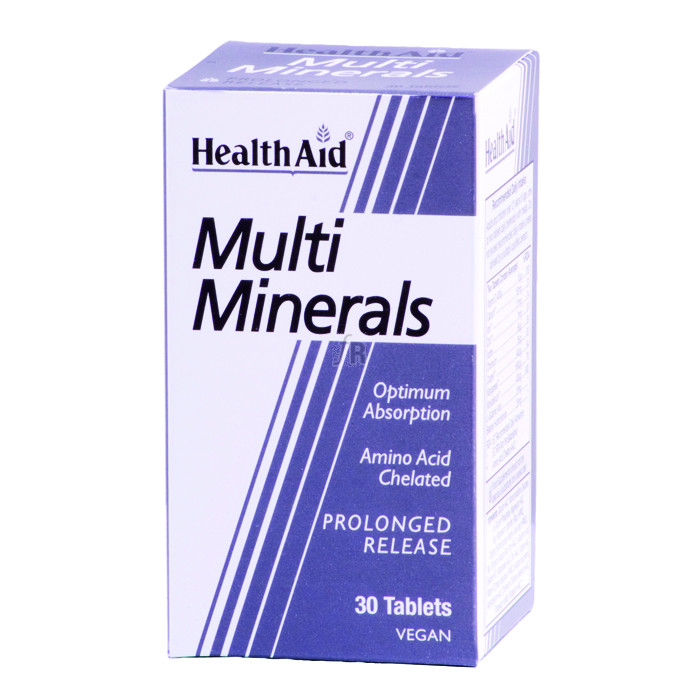 Multiminerales 30 Comprimidos - Health Aid