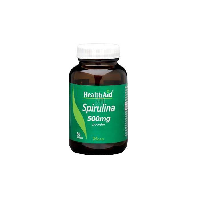 Espirulina (Spirulina platensis) 500 mg 60 Comprimidos - Health Aid