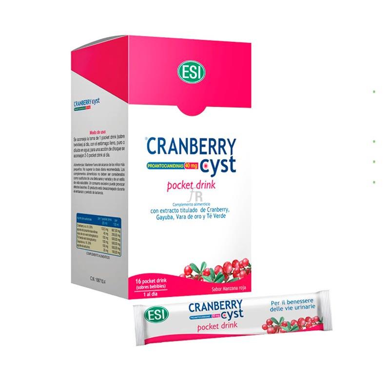 Cranberry Cyst Pocket Drink 16 Sobres - Farmacia Ribera
