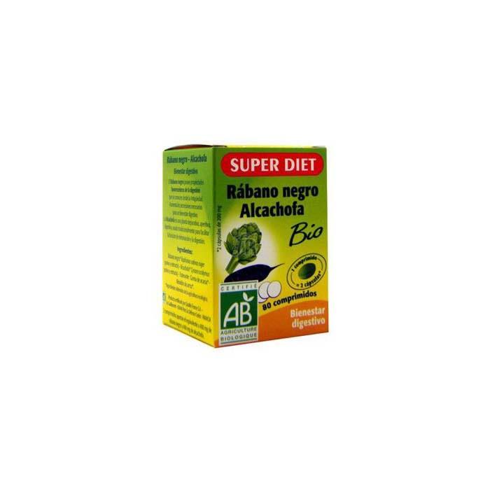 Rabano Negro-Alcachofa 80 Comprimidos Super Diet - Varios