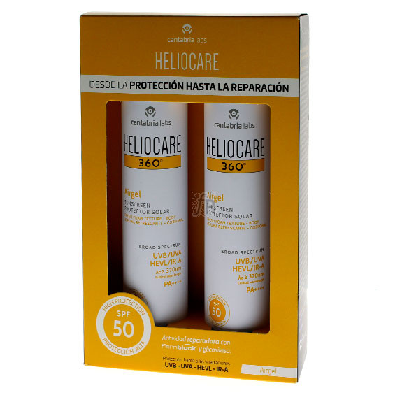 Heliocare Pack 360º Airgel Spray Corporal SPF50 2x200Ml