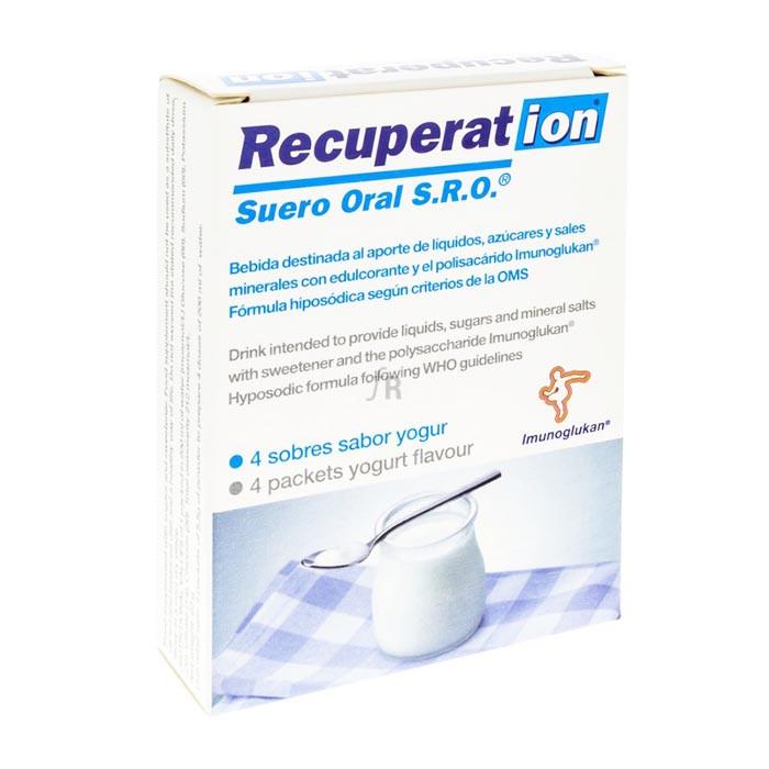 Recuperat-ion Suero Oral S.R.O. 4 Sobres Sabor Yogur