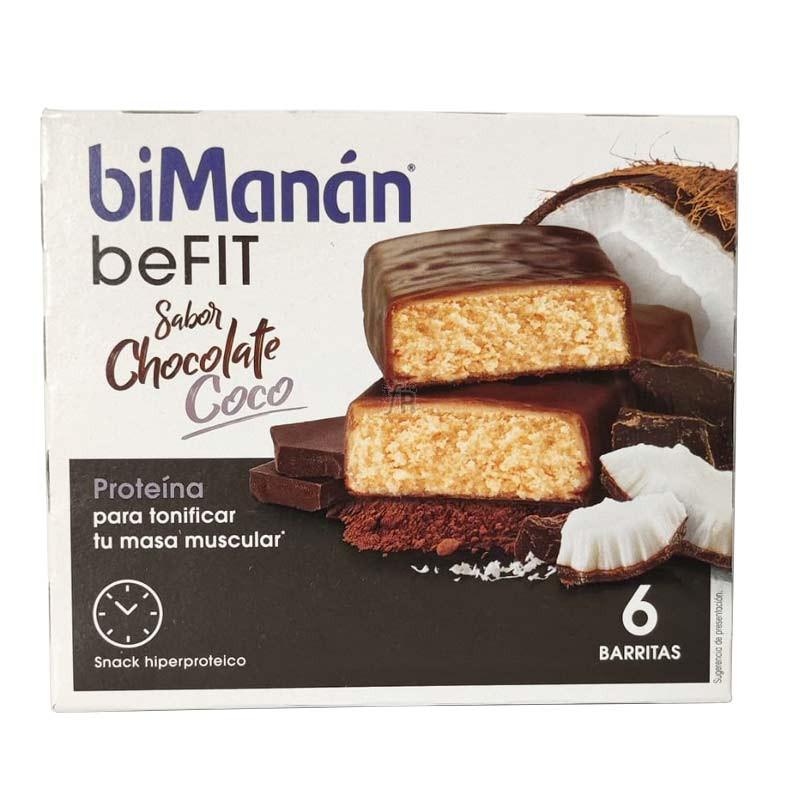 Bimanan beFIT Pro Barritas De Chocolate Coco 6 Unidades