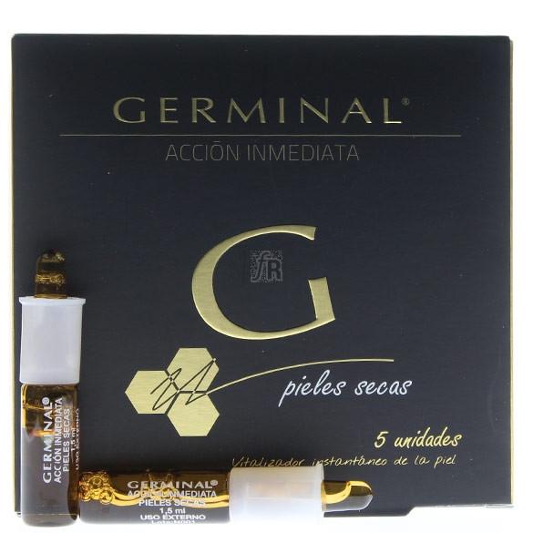 Germinal Accion Inmediata Piel Seca 5 Ampollas 1,5 Ml.