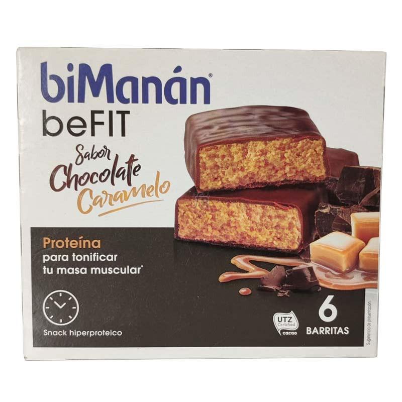 Bimanan beFIT Pro Barrita Choco Caramelo 6 Unidades