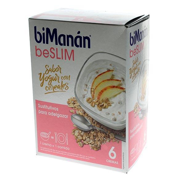 Bimanán beSLIM Sabor Yogurt Con Cerales 6 Cremas