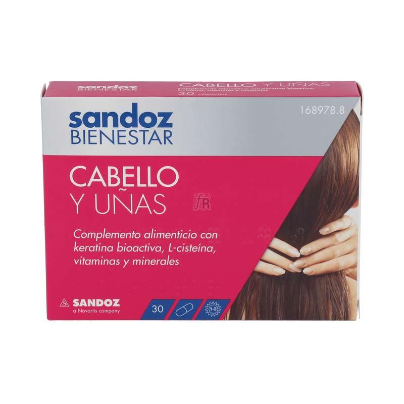 Sandoz Bienestar Cabello y Uñas 30 Cápsulas