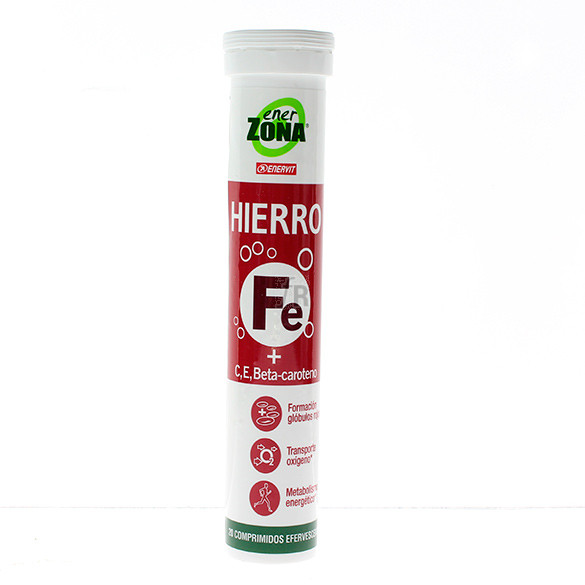 Enerzona Hierro + Vitamina C 20 Comprimidos Efervescentes