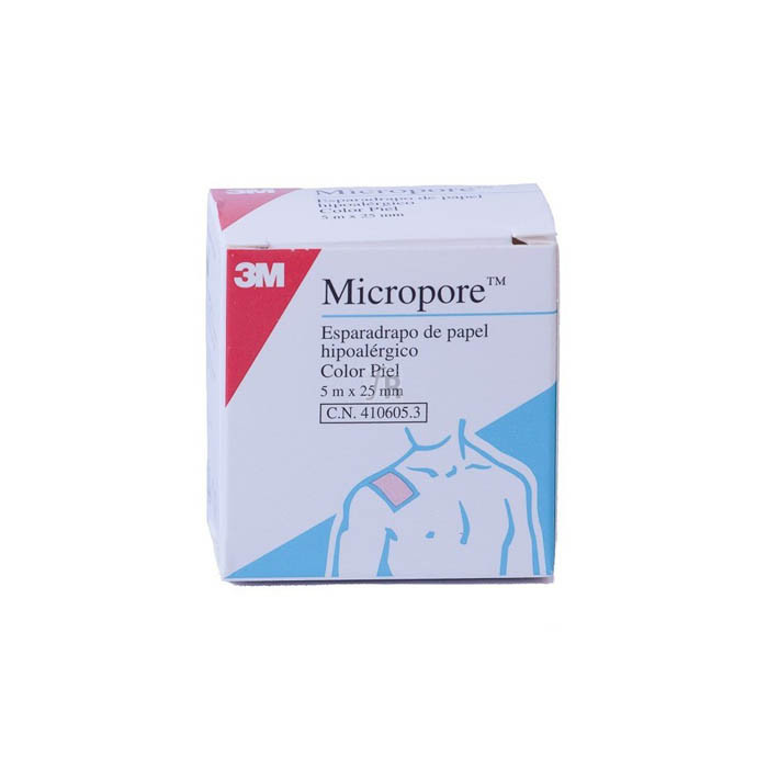 Esparadrapo Micropore Papel Piel 5 M X 25 Mm - Ortogras