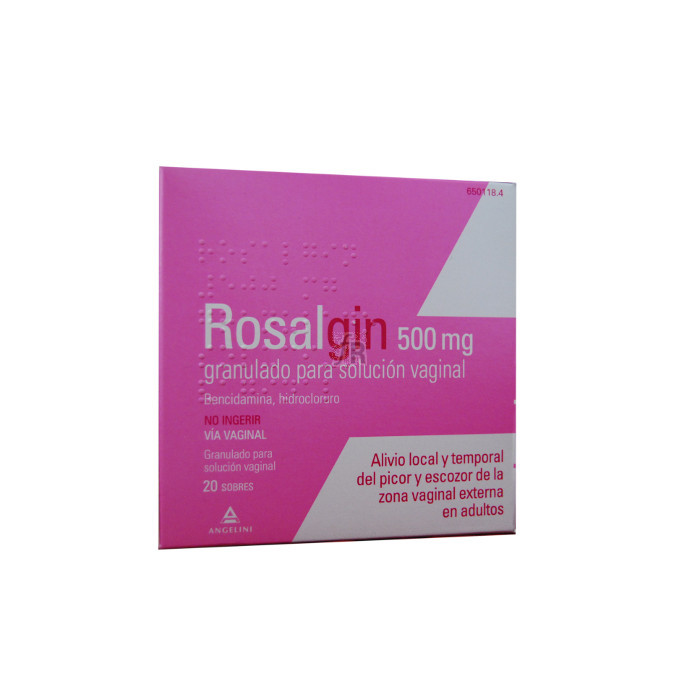 Rosalgin (500 Mg Granulado Solucion Vaginal 20 Sobres) - Angelini