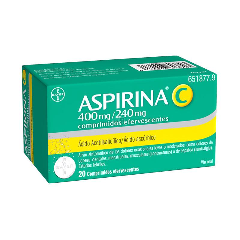 Aspirina C (400/240 Mg 20 Comprimidos Efervescentes) - Bayer