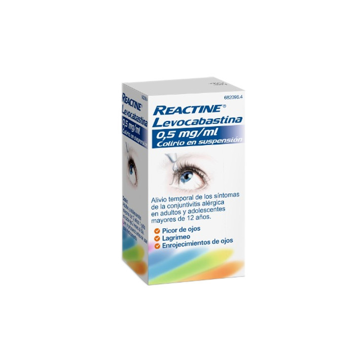 Reactine Levocabastina (0.5 Mg/Ml Colirio 1 Frasco Suspension 4 Ml) - Johnson & Johnson