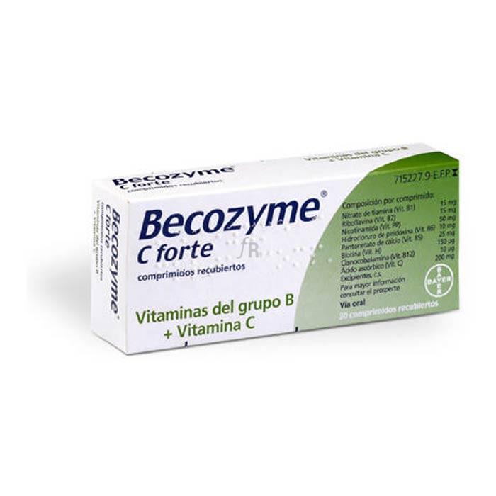 Becozyme C Forte (30 Comprimidos Recubiertos) - Bayer