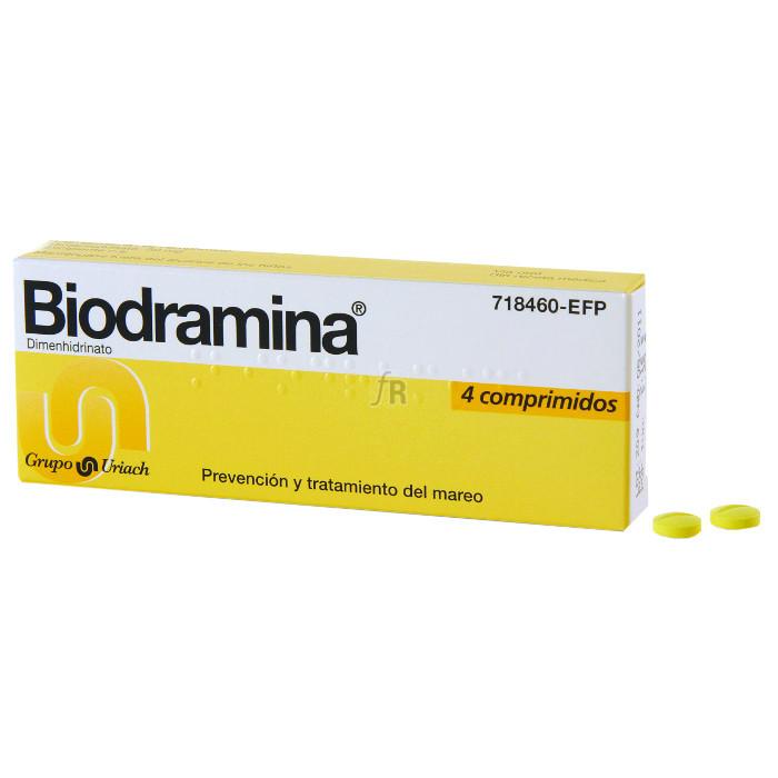 Biodramina (50 Mg 4 Comprimidos) - Aquilea-Uriach