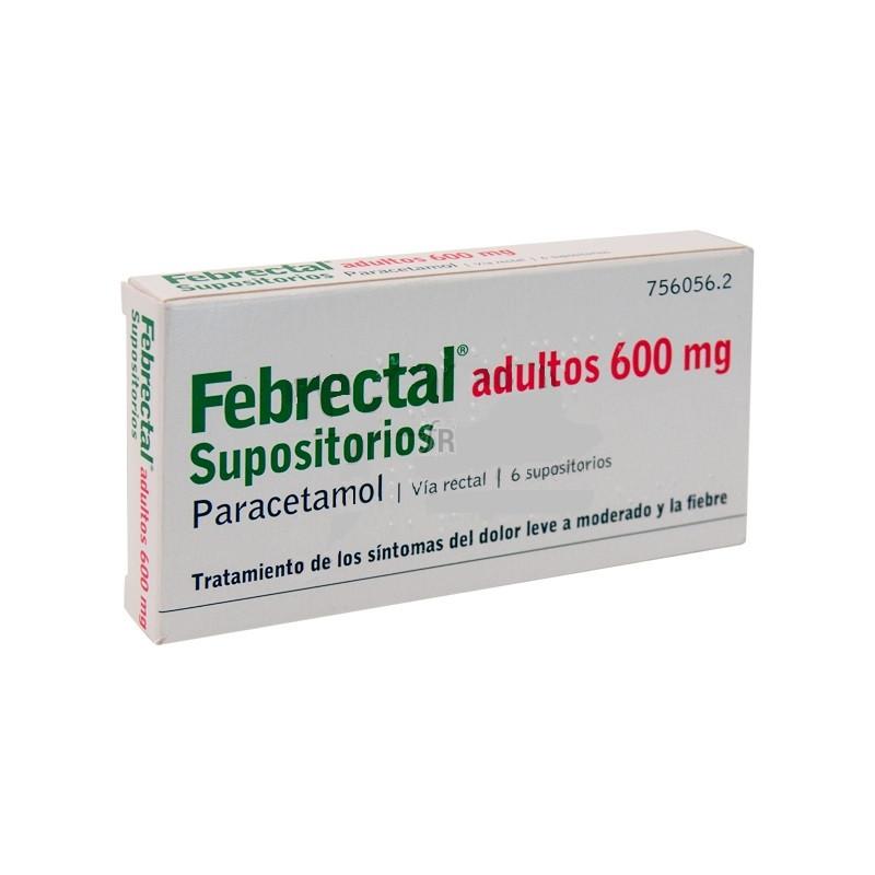 Febrectal Adultos (600 Mg 6 Supositorios) - Varios