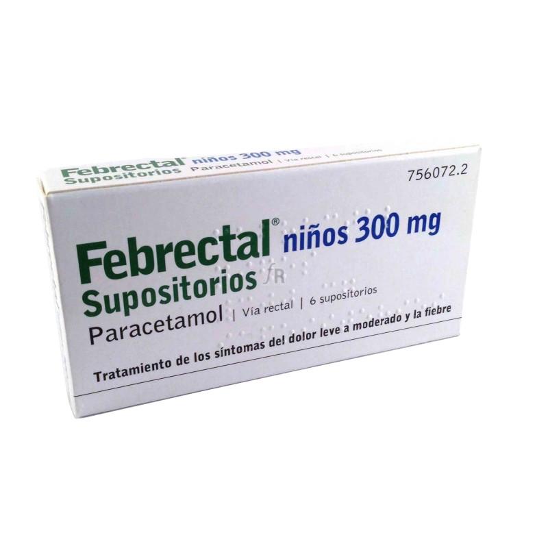 Febrectal Infantil (300 Mg 6 Supositorios) - Varios