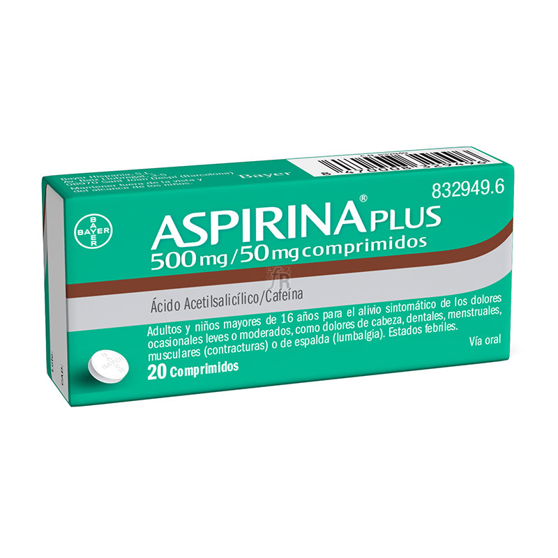 Aspirina Plus (500/50 Mg 20 Comprimidos) - Bayer