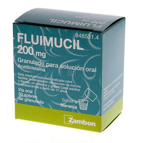 Fluimucil (200 Mg 30 Sobres Granulado)