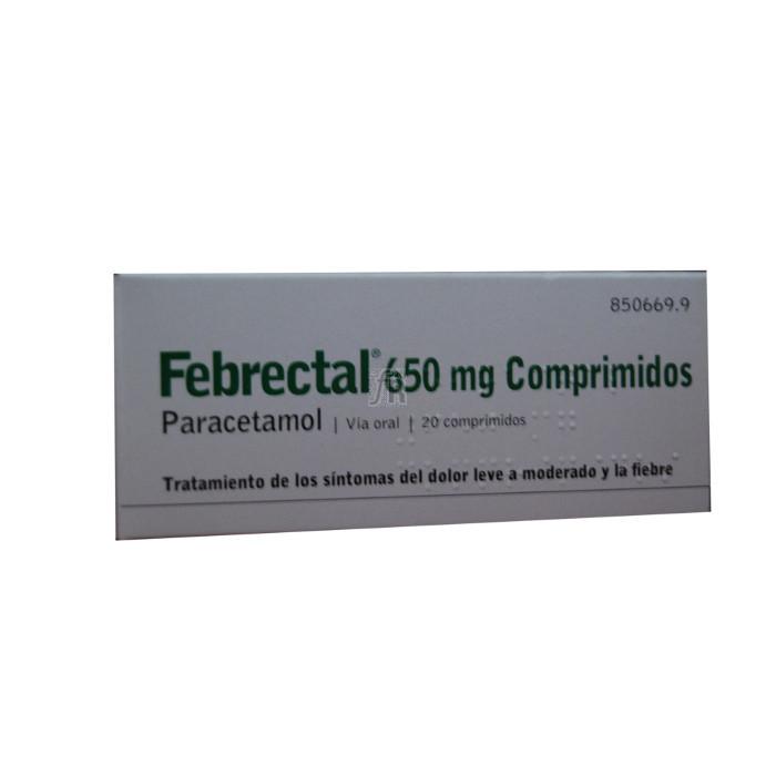 Febrectal (650 Mg 20 Comprimidos) - Varios