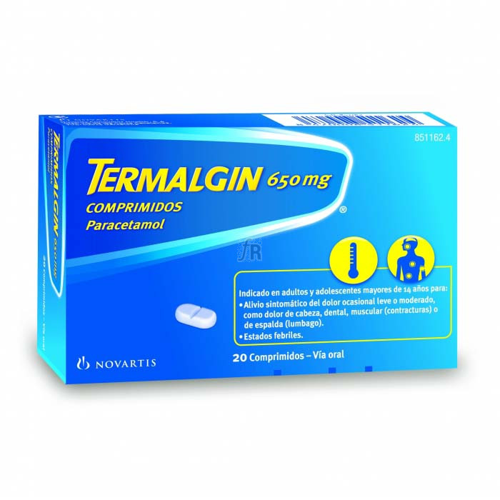 Termalgin (650 Mg 20 Comprimidos) - Novartis