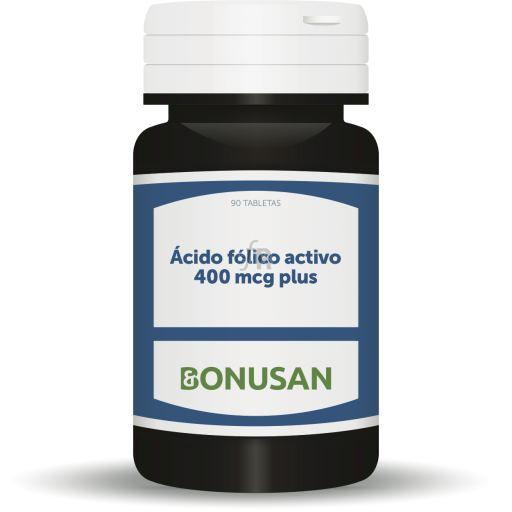 Acido Folico Activo 400Mcg. Plus 90 Comp. - Bonusan