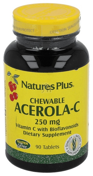 Acerola-C Chewable 250Mg 90 Tabletas Nature´S Pl