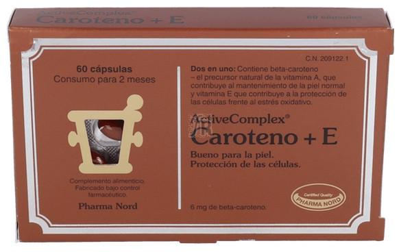 ActiveComplex Caroteno+E 60 Cápsulas Pharma Nord