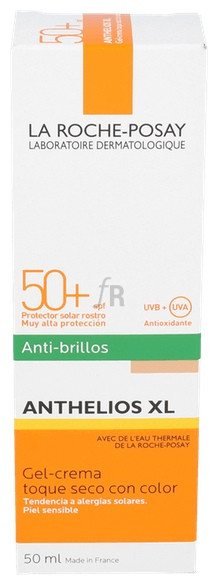 Anthelios Xl Antibrillos 50+ Gel Crema Color Roc - La Roche-Posay