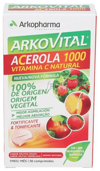Arkovital Acerola 30 Comprimidos - Farmacia Ribera