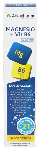 Arkovital Mg + Vit B6 21 Comp Efervescentes