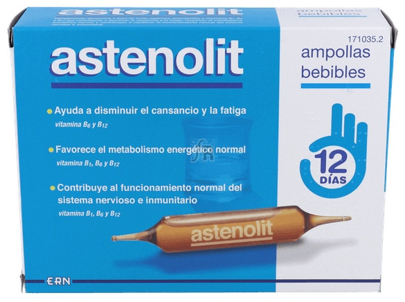Astenolit 12 Ampollas + Regalo