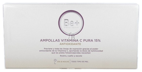 Be+ Ampollas Vitamina C Pura 15% Antioxidante 10 Amp X 2 Ml - Cinfa