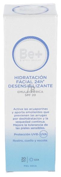Be+ Emulsion 24H Facial Piel Seca Spf20 50 Ml - Farmacia Ribera