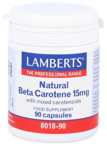 Beta Caroteno 15Mg 90 Cápsulas Lamberts