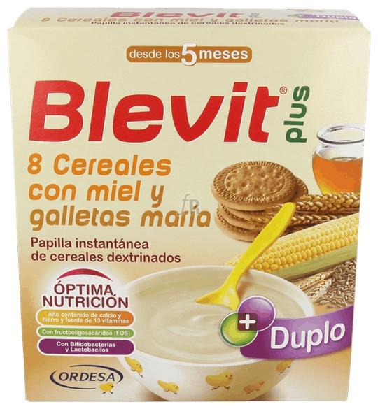 Blevit Plus Duplo 8 Cereales Con Miel Y Galleta Maria 600 G - Farmacia Ribera