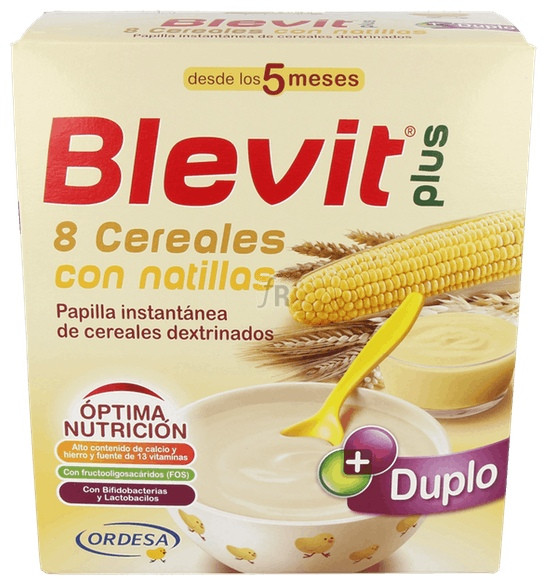 Blevit Plus Duplo 8 Cereales Con Natillas 600 G - Varios