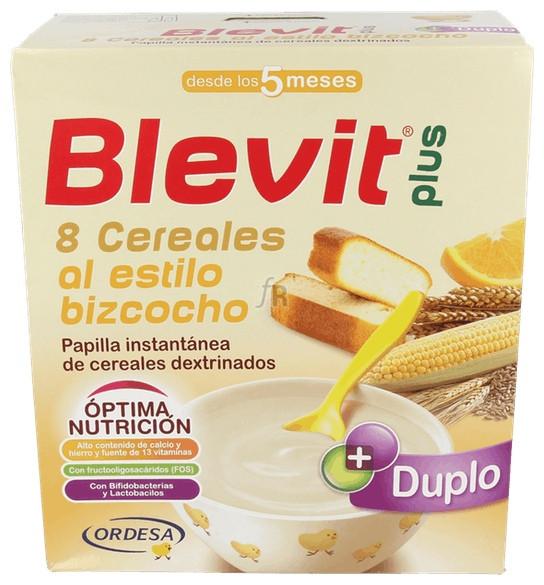 Blevit Plus Duplo 8Cereales+Bizcocho+Naranja 600Gr - Blevit