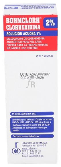 Bohmclorh Clorhexidina Sol Acuosa 2% , 100 Ml - Varios