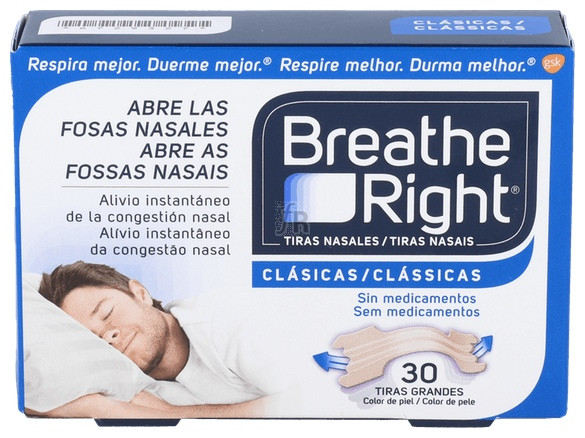 Breathe Right Tiras Nasales 30 Unidades - Varios