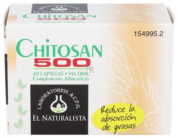 Chitosan 500Mg. 60 Cap.  - El Naturalista