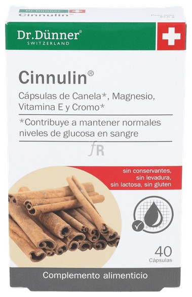 Cinnulin 40 Caps Dr Dunner - Salus