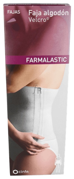 Faja  Farmalastic Al Velcro Talla-2 Beige 95-115