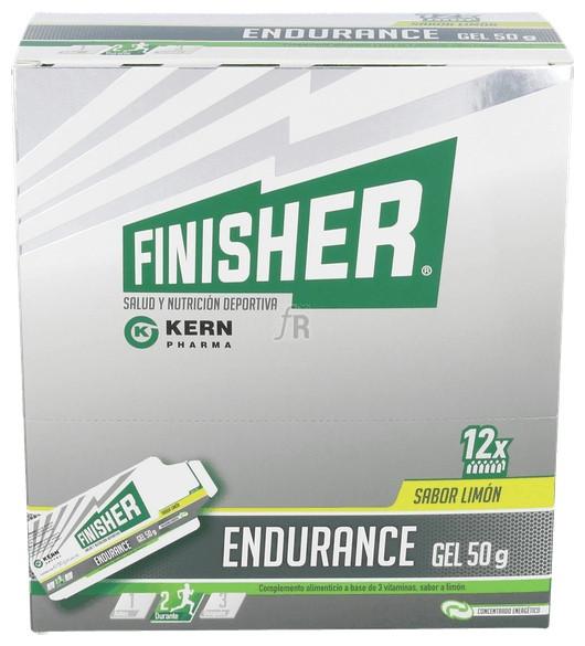 Finisher Endurance Gel Energético Sabor Limón 12 Sobres De 50G - Farmacia Ribera
