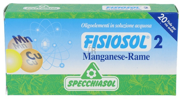 Fisiosol 2 Manganeso-cobre 20 Ampollas Specchiasol