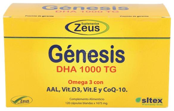 Genesis Dha Tg 1000 Omega-3 120 Cápsulas - Zeus